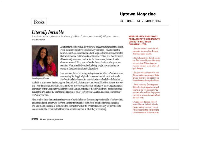uptown magazine October November Issue